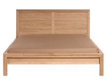Ledger Kingsize Bed, Oak