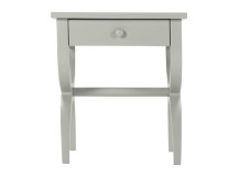 Leila Bedside Table, Grey
