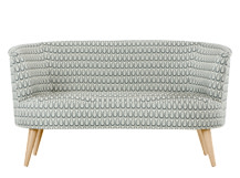 Lulu 2 Seater Sofa, Drop Weave