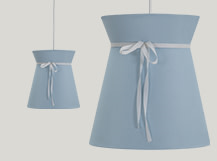 Madame Pendant Light, Blue and White