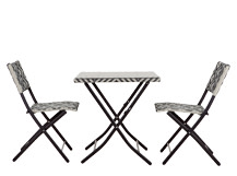 Mali Bistro Set, Monochrome Black