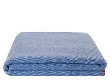 Malone 150 x 200cm 100% Cotton Throw, Denim Blue
