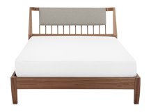 Mara Kingsize Bed, Walnut