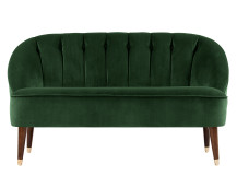 Margot 2 Seater Sofa, Forrest Green Velvet