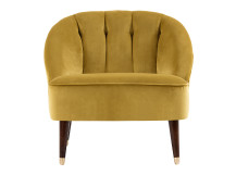 Margot Accent Chair, Antique Gold Velvet