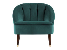 Margot Accent Chair, Peacock Blue Velvet