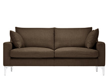 Mendini 2 Seater Sofa, Chocolate Brown