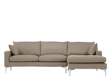 Mendini Right Hand Facing Corner Sofa Group, Soft Taupe
