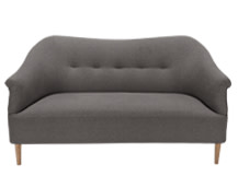 Millie 2 Seater Sofa, Graphite Grey