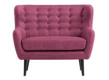 Mini Kubrick 2 Seater Sofa, Plum Purple