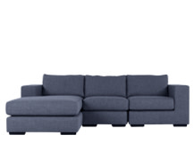 Mortimer 4 Seater Modular Corner Sofa, Shadow Indigo
