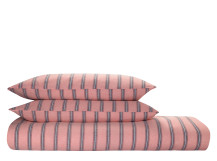 Mykonos Cotton Linen Mix Bed Set, Sunset Pink and Ink Blue