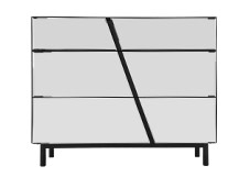 Noa Chest of Drawers, Mirror