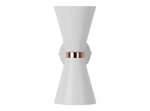 Ogilvy Wall Lamp, Matt Soft Grey and Copper