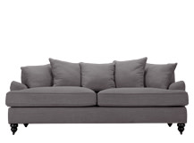 Orson Scatter Back 3 Seater Sofa, Graphite Grey