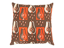 Pears Square Scatter Cushion 45 x 45cm, Burnt Orange