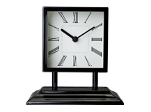 Atticus Large Table Clock, Black