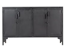 Rankin Storage Unit, Black Metal