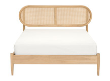 Reema Double Bed, Oak