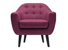 Ritchie Armchair, Plum Purple