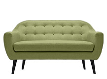 Ritchie 2 Seater Sofa, Lime Green