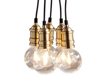 Starkey Cluster Pendant Light, Brass