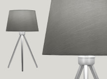Tamsin Tripod Table Lamp, Warm Grey