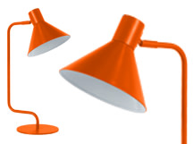 Truman Task Table Lamp, Matt Burnt Orange
