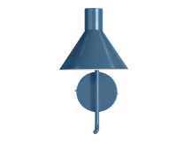 Truman Task Wall Lamp, Matt Memphis Blue