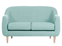 Tubby 2 Seater Sofa, Turquoise Blue