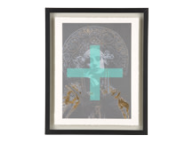 Siren Anna Pavlova Gilt Print, 30 x 40cm, Limited Edition by Coup d'Esprit, Gold and Green