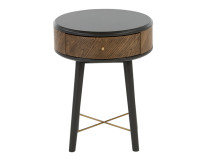 Belgrave Side Table With Drawer, Dark Stained Oak