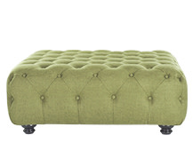 Branagh Large Ottoman, Lime Green