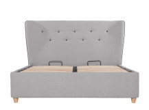 Burcot King Size Storage Bed, Contrast Grey