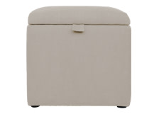 Capri Upholstered Storage Box, Desert Beige