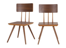 2 x Cornell Dining Chairs, Walnut