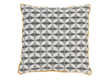 Etruria 100% Linen Cushion 50 x 50cm, Ash Grey and Gold
