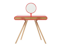 Fonteyn Dressing Table, Oak and Coral