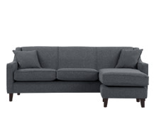 Halston Large Corner Sofa, Charcoal Weave
