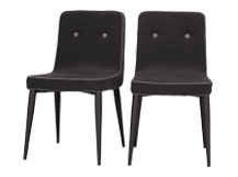 2 x Herby Dining Chairs, Midnight Black