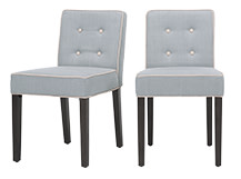 2 x Hoxton Dining Chairs, Persian Grey and Biscuit Beige