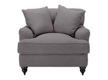 Orson Scatter Back Armchair, Graphite Grey
