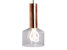Rehm Pendant Lamp and Plumen 001 Bulb, Smoke Grey and Copper
