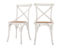 2 x Rochelle Dining Chairs, White