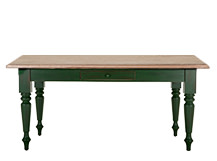 Rochelle Rectangular Dining Table, Oak and Green