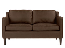 Walken 2 Seater Sofa, Saddle Tan Premium Leather
