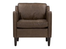 Walken Armchair, Saddle Tan Premium Leather