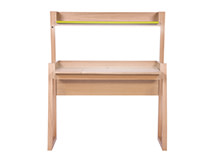Watson Desk with LED Light, Oak and Green