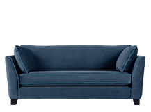 Wolseley 2 Seater Sofa, Navy Velvet