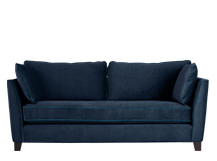 Wolseley 3 Seater Sofa, Navy Velvet